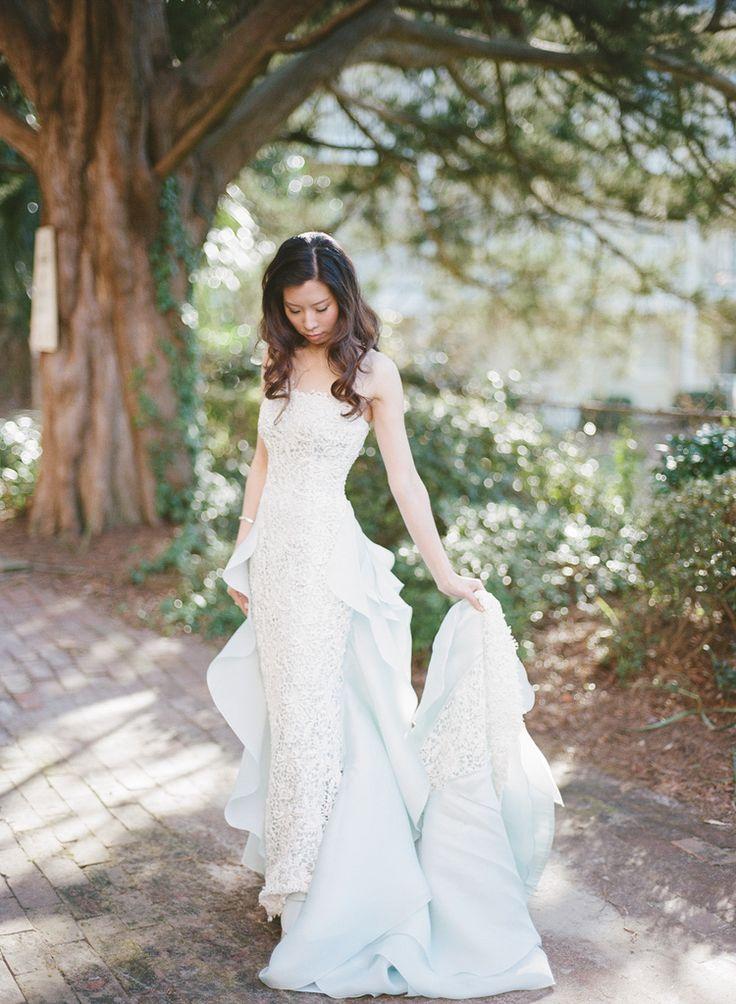 Oscar De La Renta Wedding Film Blue Wedding Dress Film