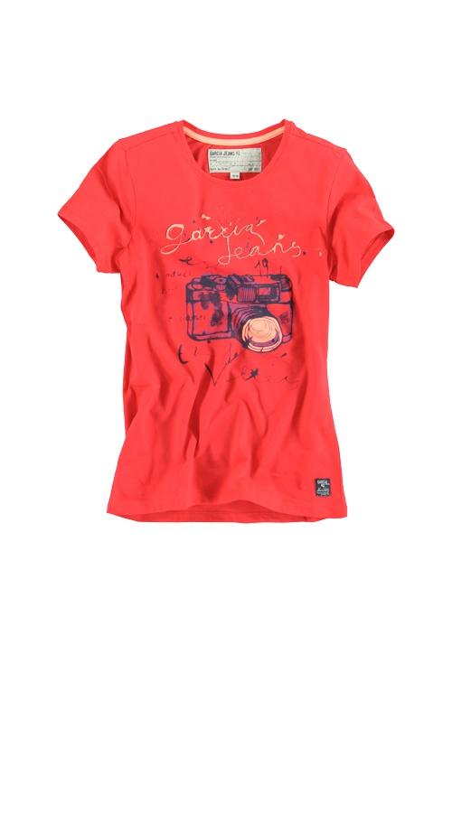 T-shirt Garcia A32417 KRISTEL GIRLS JUNIOR 9 Lolli red