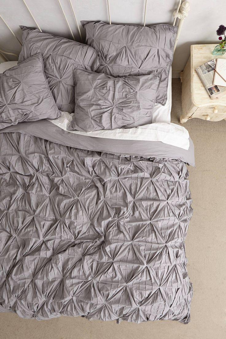 Aurora Duvet Grey Grey Bed And Silver Lamp
