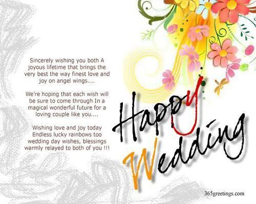 Married Congratulations Messages Wedding Wishes For