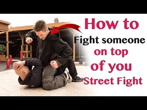 How to fight someone on top of you Street Fight – wing chun - YouTube