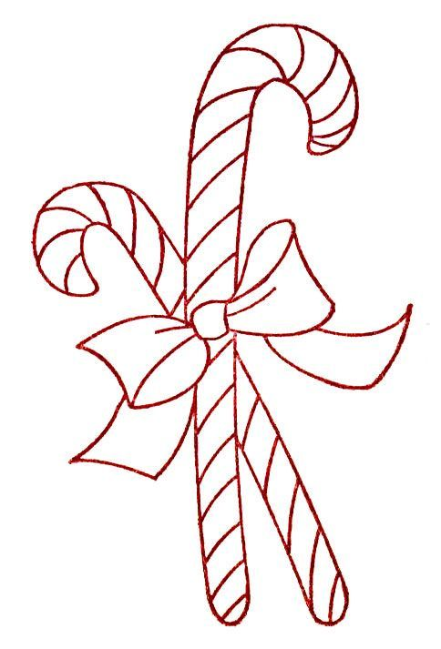 Embroidery Candy Cane Design Free