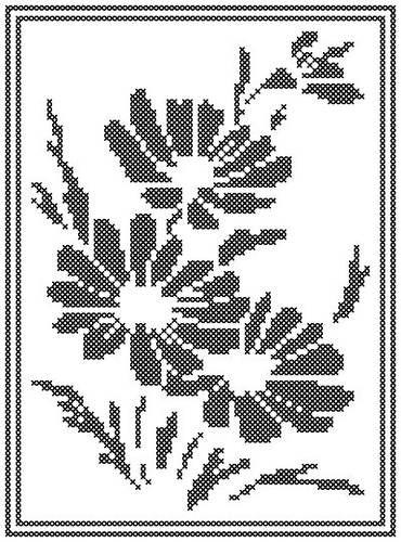 Daisy Silhouette cross stitch pattern.
