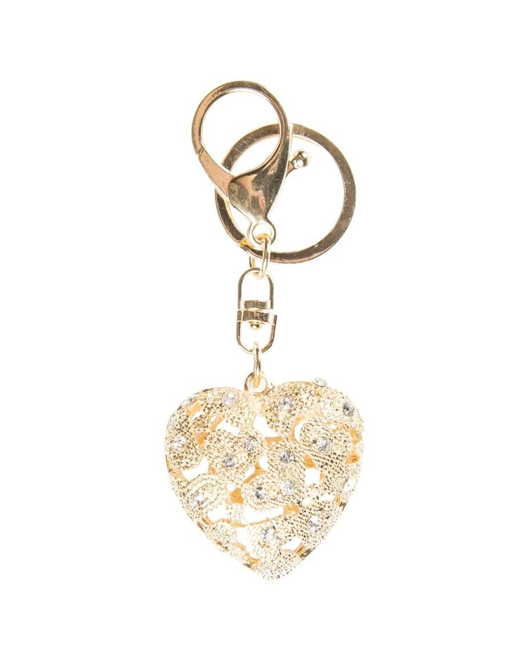 Cut Out 'Heart' Keyring
