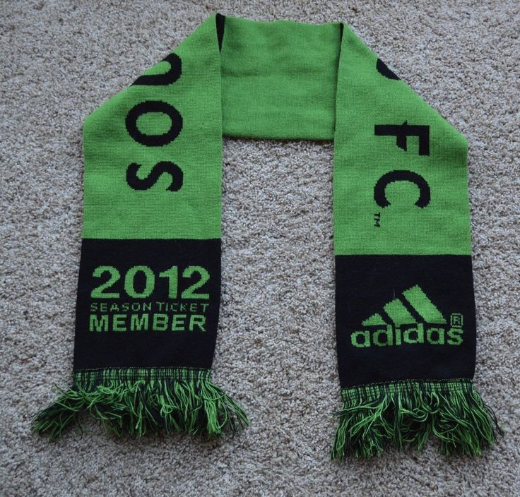 Seattle Sounders FC 2012 Season Ticket Member Winter Scarf Green & Black Adidas! #adidas #Sounders