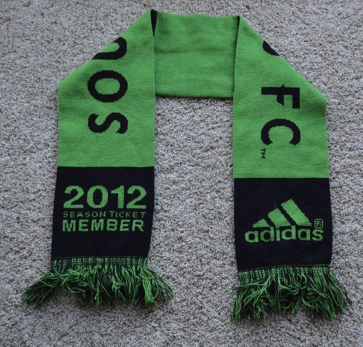 Seattle Sounders FC 2012 Season Ticket Member Winter Scarf Green & Black Adidas! #adidas #Sounders