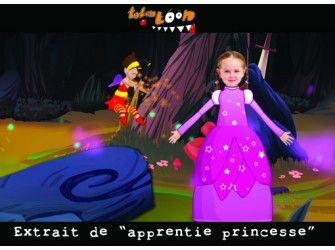 Dessin animé personnalisé Apprentie Princesse