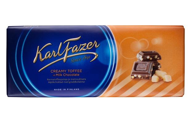 Karl Fazer 200g Kermatoffeepaloja ja maitosuklaata suklaalevy
