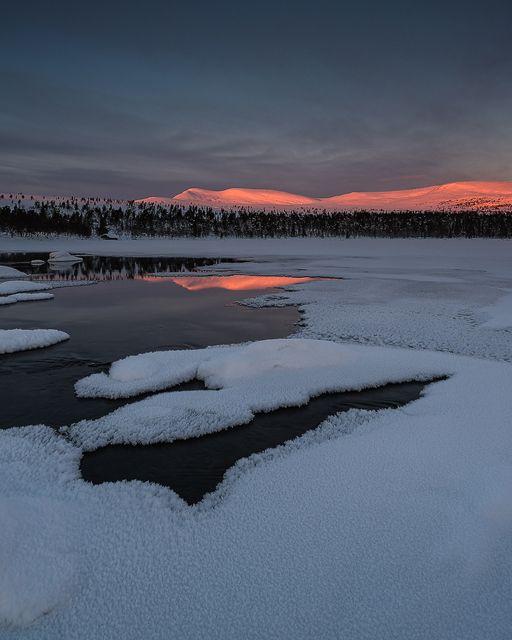 Grövelsjön, Dalarna, Sweden. 28 December 2014.