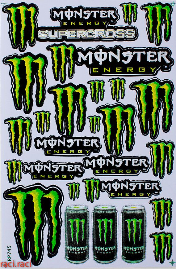Green monster claws sticker decal supercross motocross by raciraci