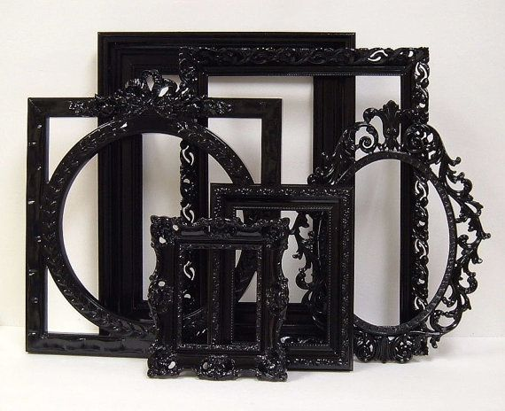 Picture Frames Black Shabby Chic Frames by MountainCoveAntiques