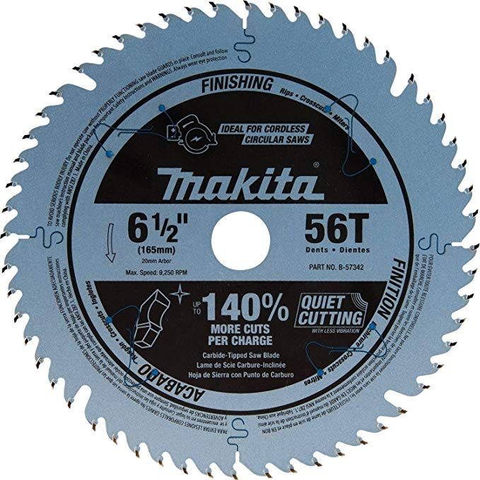 Makita B 57342 6 1 256t Carbide Tipped Cordless Plunge Saw Blade Review Circular Saw Blades Makita Blade