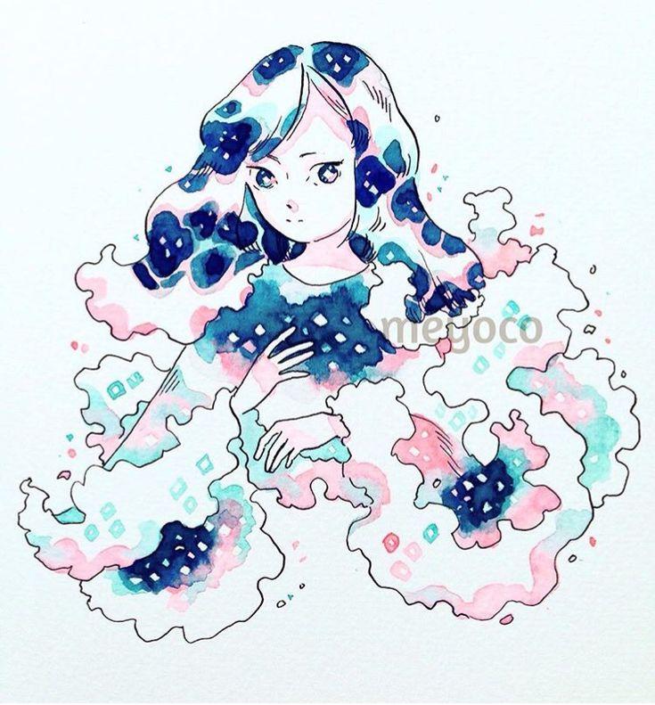 Watercolors - @meyoco on Instagram !! Omg !!