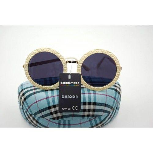 Γυαλιά ηλίου γυναικεία Dasoon Vision UV400%  Protection Μεταλλικά κρεμ