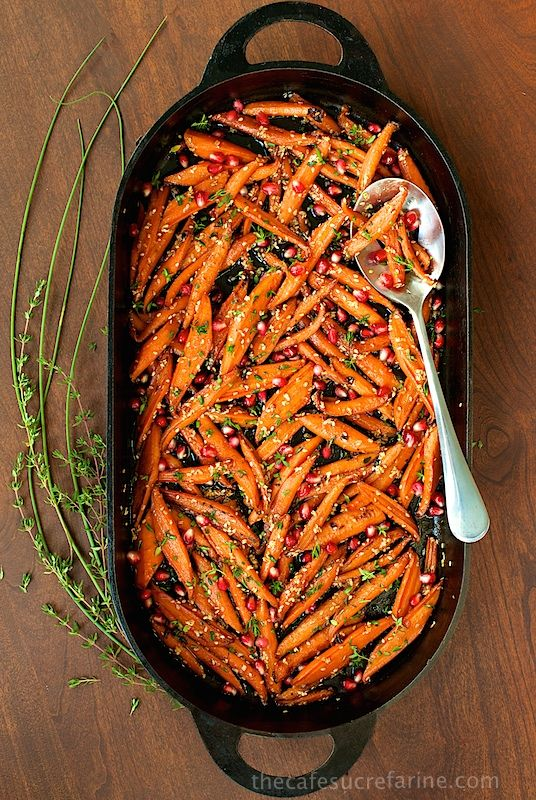 Honey Maple Roasted Carrots - These are like candy, everyone always wants second helpings!