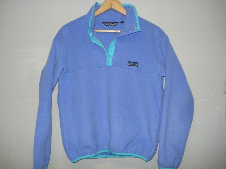Vintage Patagonia Synchilla Fleece Snap T Jacket Pullover USA Womens 8 | eBay