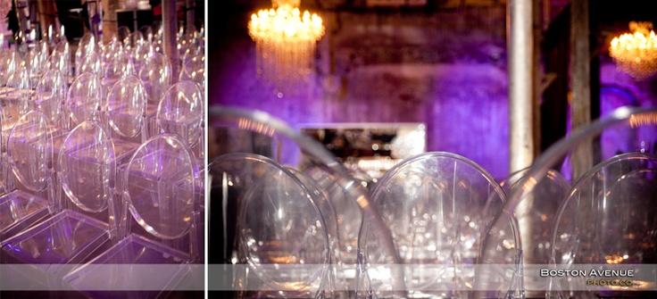 Fermenting Cellar wedding decor - ghost chairs