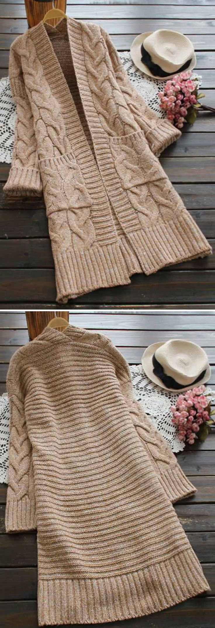 15% Off for pre-order! Only $39.99! Free shipping&easy return! This twist knitting sweater cardigan gonna keep you cozy&warm all day! Make it yours at Cupshe.com