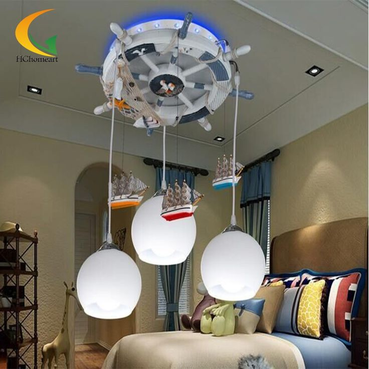 153.34$  Buy here - http://alipws.worldwells.pw/go.php?t=32672779105 - Mediterranean baby room Led pendant lighting 110V 220V glass ball light modern Led pendant lamp design children's pendant light