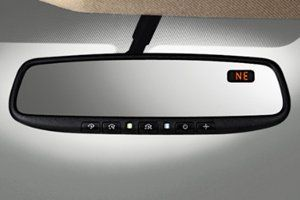 2011-2013 Nissan Juke Auto Dimming Rear View Mirror W/ Compass 999L1-VT001 Detects headlight glare at night and automatically dims. The brighter the glare, the darker the mirror becomes. Provides navigation assistance with built-in digital compass display. #Nissan #Automotive_Parts_and_Accessories