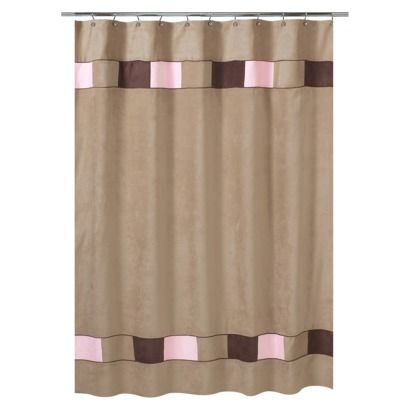 soho shower curtain pinkbrown 72x72 girls bathroom - Pink Brown Bathroom Decorating Ideas