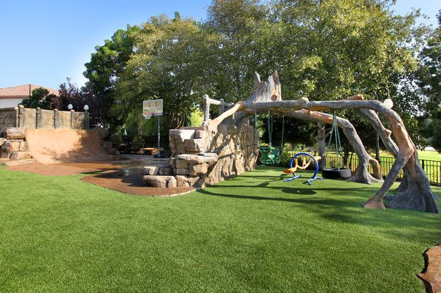 Landscaping Ideas Backyard with Playground