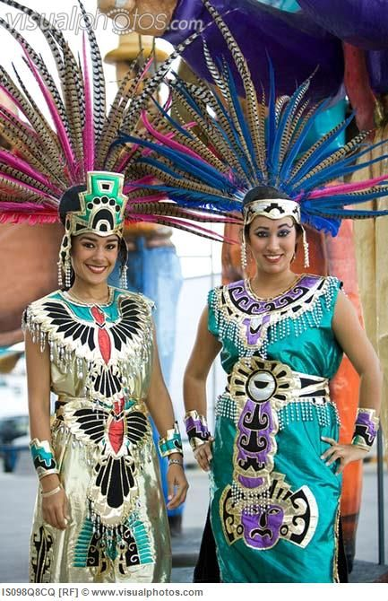 Aztec Costumes | Women in aztec costumes [IS098Q8CQ] > Stock Photos | Royalty Free ...