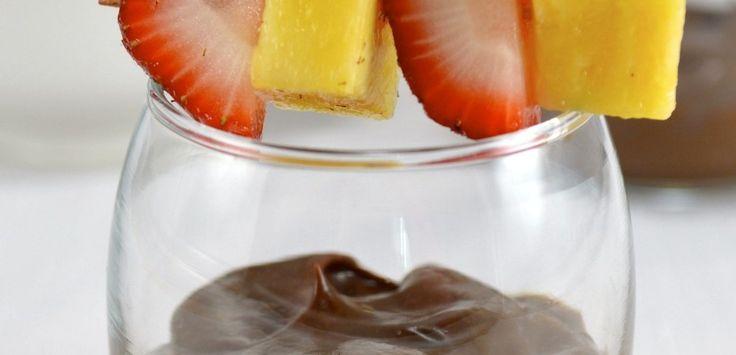 Avocado Chocolate Moose Shooter-This dairy-free dip boasts creaminess ...