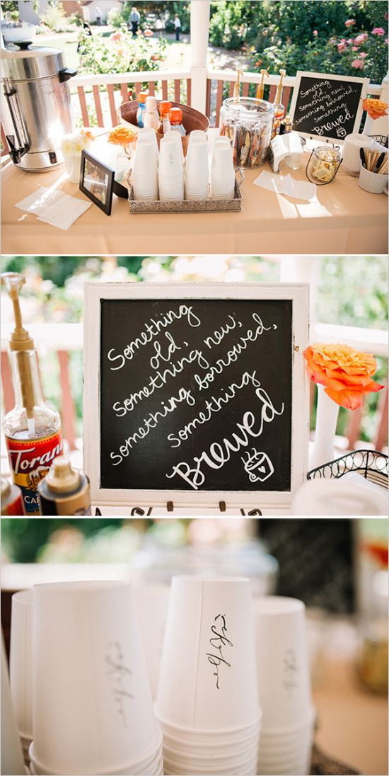 Best 25 coffee bar wedding ideas on pinterest hot for Coffee bar at wedding reception