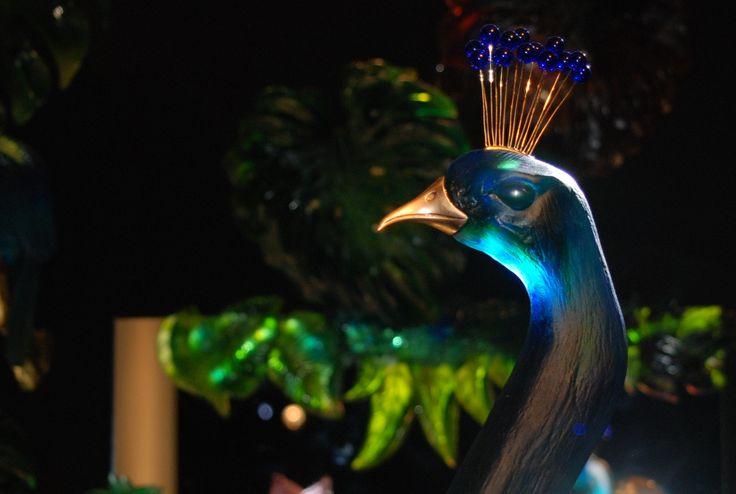 Daum Nancy - Peacock by Daum, design Madeleine van der Knoop - Maison et Objet dec. 2014