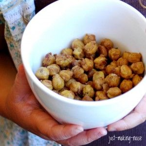 Sweet n' Crunchy Roasted Chickpeas | Just Making Noise