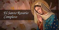 Rezo Completo del Santo Rosario. Incluye todos los misterios, oraciones, meditaciones y las Letanías de la Virgen María. Con casillas para marcar a modo de cuentas.
