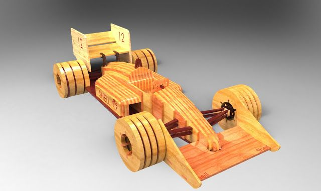 3DPUZZLE: WOODCRAFT 3D PUZZLE PROJECT - FORMULA 1 CAR