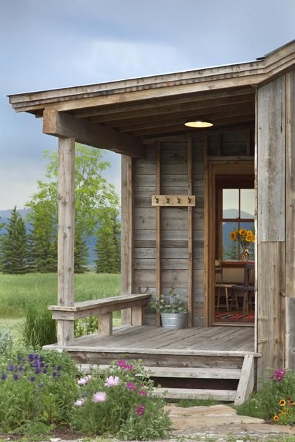 Does this porch remind you of a Grandmother's porch? New made to look old  and
