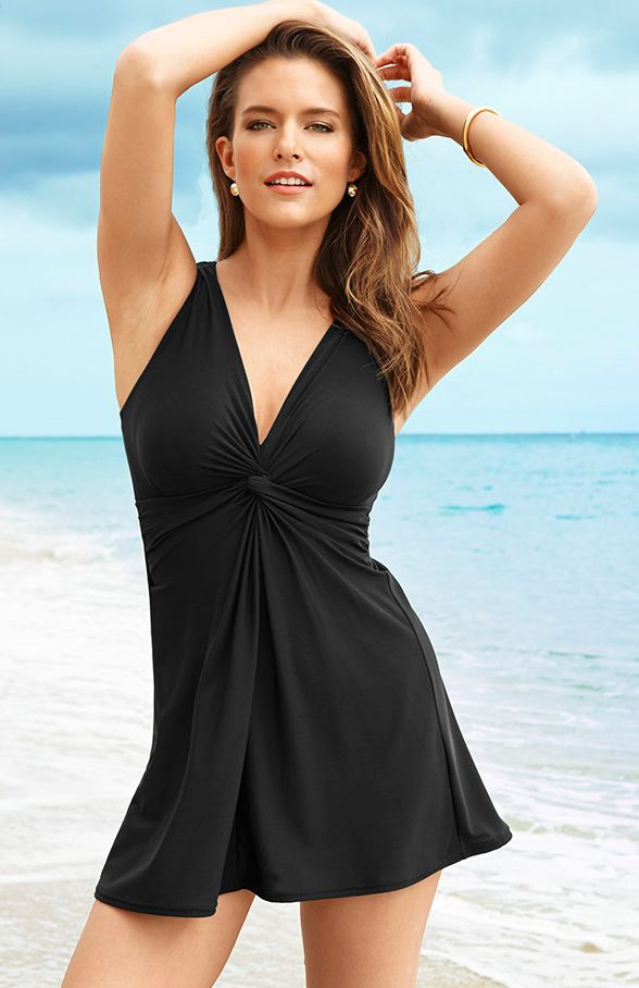 Miraclesuit Marais One Piece Swimdress in Black - perfect for active days in the sun!