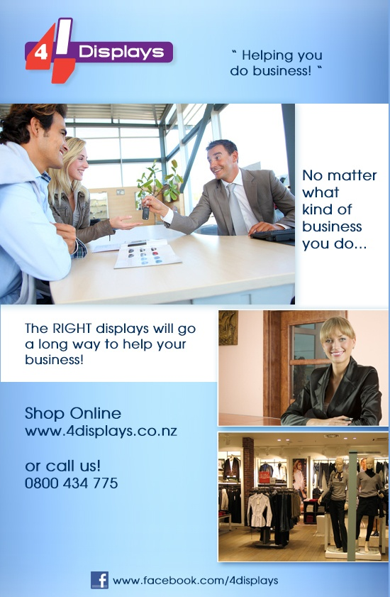 Helping you grow business in #NZ, #Showroom, #Real Estate, #Hospitality, #Retail, #Beauty and more!  Shop online or enquire about custom design for your displays!