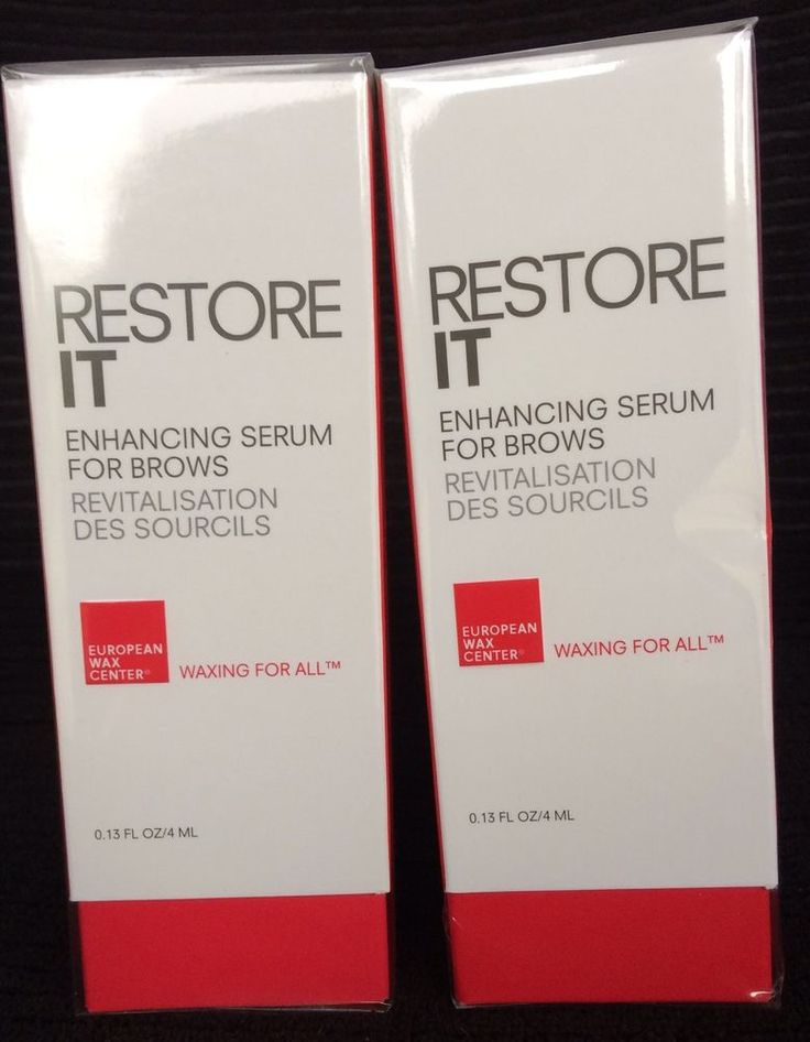2 RESTORE IT Enhancing Serum For Brows by European Wax Center Free Ship New #EuropeanWaxCenter