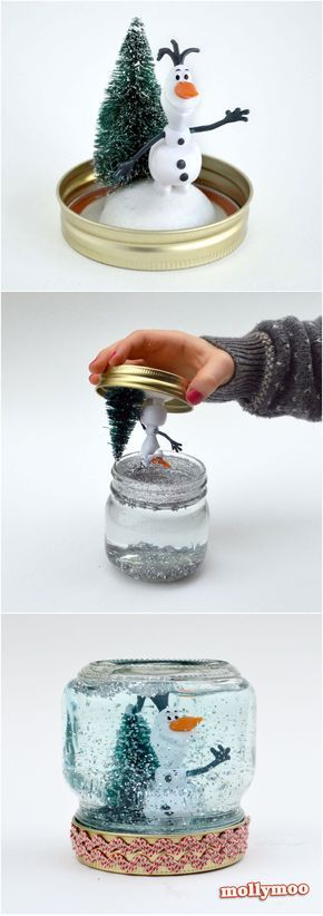 How to Make A Snow Globe - just 10 minutes from make to shake | MollyMoo