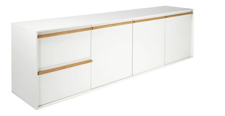 GIMM Niedriges Sideboard in Weiß