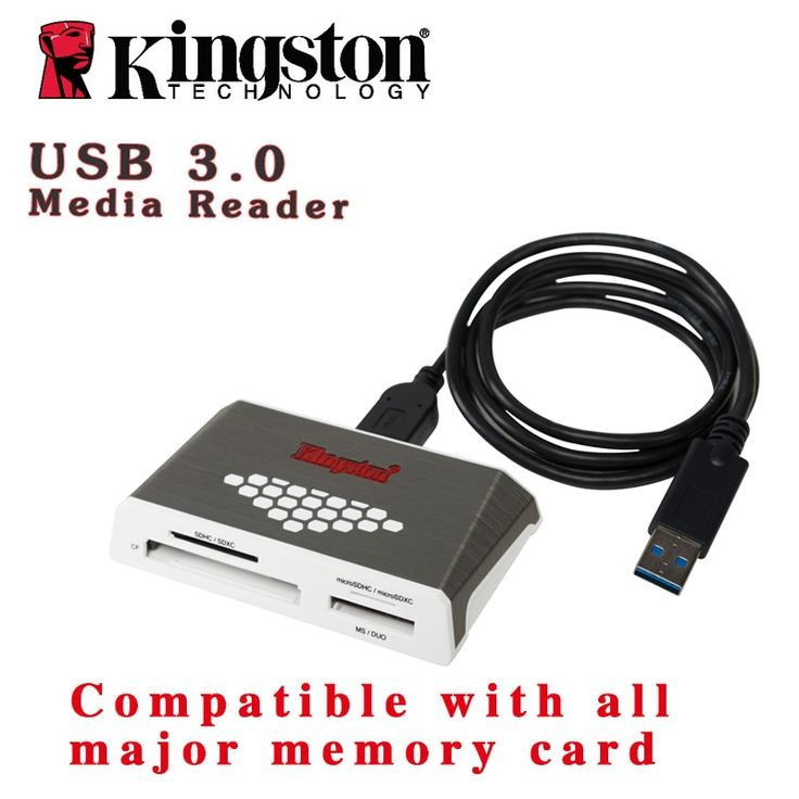 Kingston fast speed write USB3.0 card reader UHS-I micro SD SDHC SDXC memory stick usb adapter