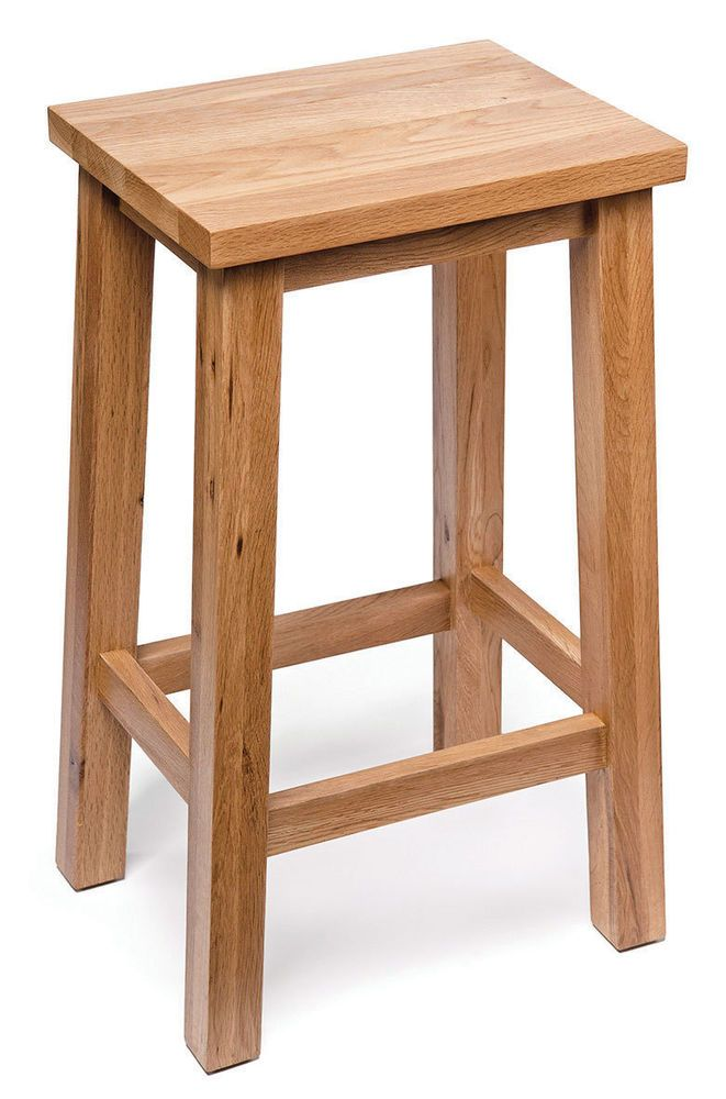 Oak Kitchen Breakfast Bar Stools   Solid Wood Stool   Dining Seat