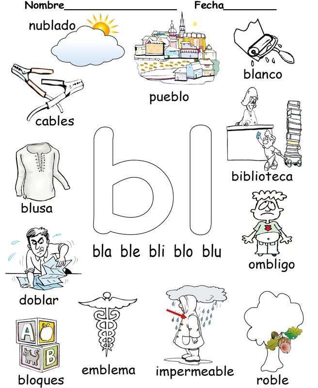 Sílabas trabadas Spanish blends Reproducible Available An 81 page reproducible of the blends in Spanish.