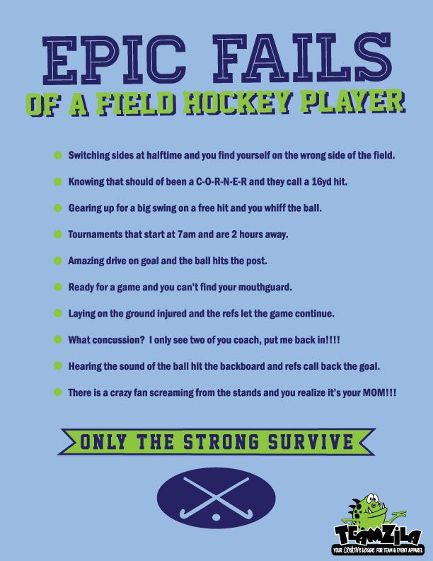 Epic Fails of a Field Hockey Player! www.teamzila.com