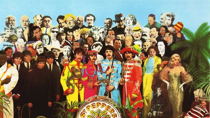 The Beatles' Sgt Pepper cover art by Sir Peter Blake