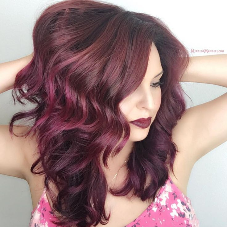 Цвет волос спелая вишня картинки