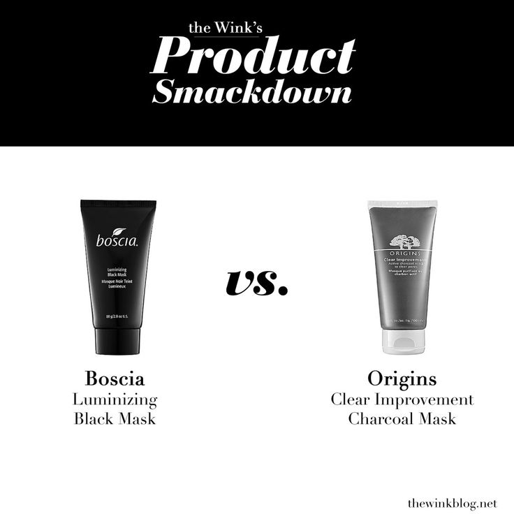 The Wink's Product Smackdown: Boscia Black Mask vs. Origins Clear Improvement Mask.