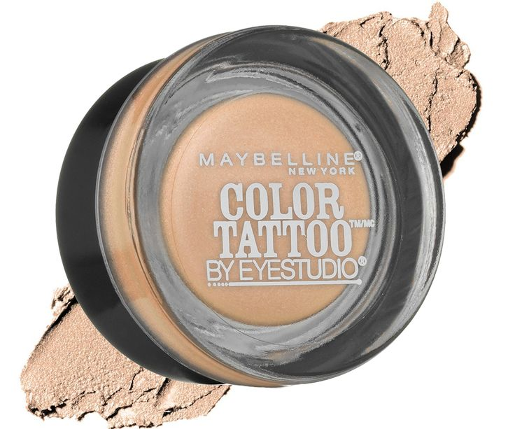 The 10 Most Popular Drugstore Eyeshadows on Amazon Right Now - Maybelline New York Eye Studio Color Tattoo Metal 24 Hr Cream Gel Eyeshadow in Barely Branded  from InStyle.com