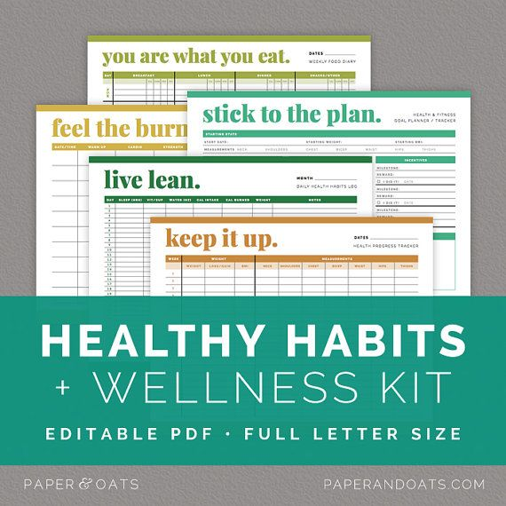 ... Fitness Goal Planner, Food Diary, Diet and Exercise Journal