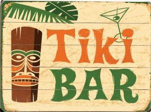 Old boards for vintage Tiki Tuck Bar signage