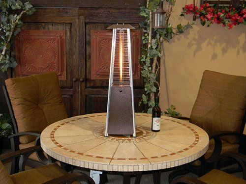 Golden Flame Quartz Gl Table Top Propane Heater Mocha Bronze